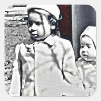 Adesivo Quadrado Uma irmã mais velha será sempre lá para você!