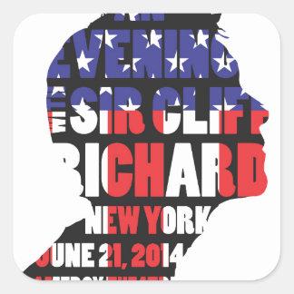 Adesivo Quadrado Uma noite com senhor Cliff Richard