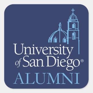 Adesivo Quadrado Universidade de alunos de San Diego |