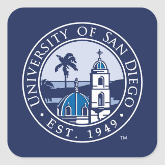 Adesivo Quadrado Universidade de San Diego   Est. 1949