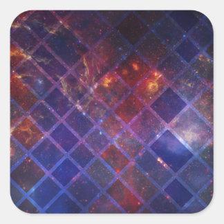 Adesivo Quadrado Universo do bloco