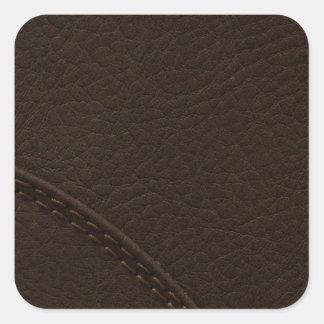 Adesivo Quadrado Upholstery de couro do falso de Brown