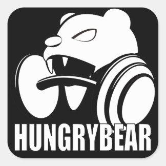 Adesivo Quadrado Urso com fome