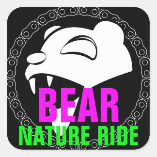Adesivo Quadrado Urso da natureza