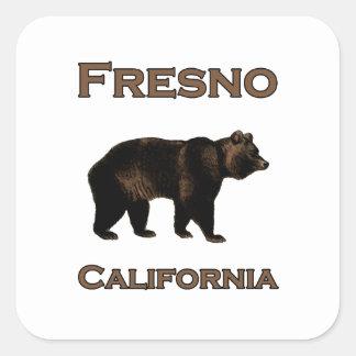Adesivo Quadrado Urso de Fresno Califórnia