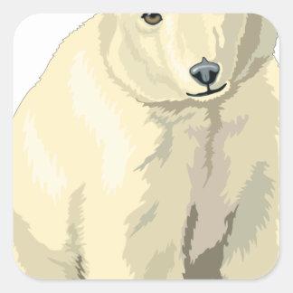 Adesivo Quadrado Urso polar peluches