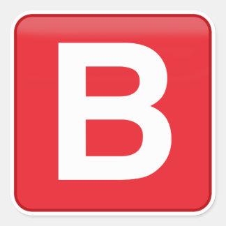 Adesivo Quadrado 🅱️utton Emoji de B