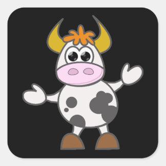 Adesivo Quadrado Vaca confundida