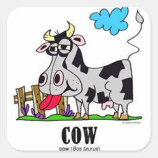Adesivo Quadrado Vaca pelo © de Lorenzo Lorenzo 2018 Traverso
