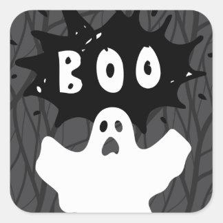 Adesivo Quadrado VAIA do fantasma do Dia das Bruxas!