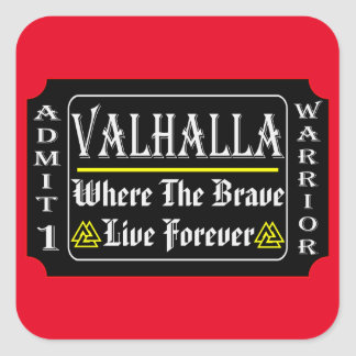 Adesivo Quadrado Valhalla admite 1 guerreiro onde o bravo pode