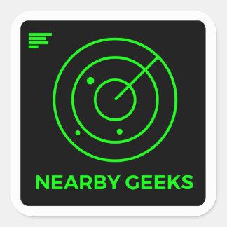 Adesivo Quadrado Varredor do geek