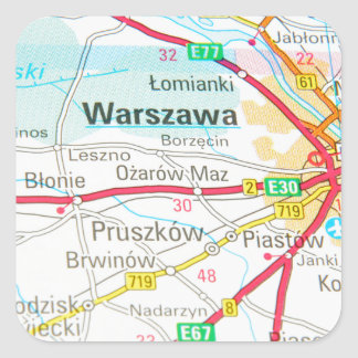 Adesivo Quadrado Varsóvia, Varsóvia no Polônia
