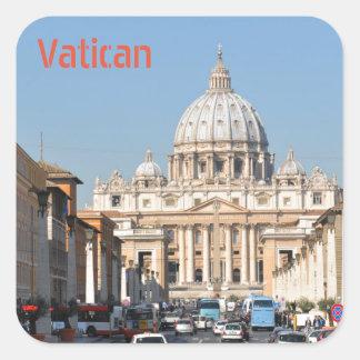 Adesivo Quadrado Vaticano, Roma, Italia