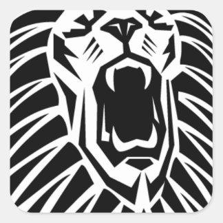 Adesivo Quadrado vecto principal do leão