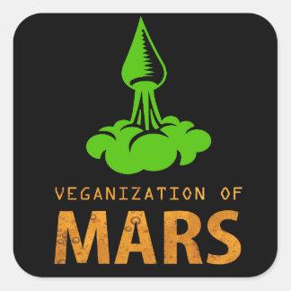 Adesivo Quadrado Veganization de Marte