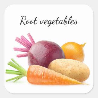 Adesivo Quadrado Vegetais de raiz