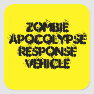 Adesivo Quadrado Veículo da resposta de Apocolypse do zombi