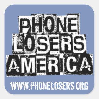 Adesivo Quadrado Vencidos do telefone de América por Derreck