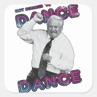 Adesivo Quadrado Verão quente 1996 da dança da dança de Boris
