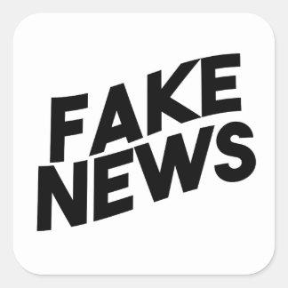 Adesivo Quadrado Verdade elegante do cargo da notícia falsificada