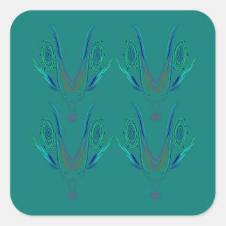 Adesivo Quadrado Verde do nordic dos elementos do design