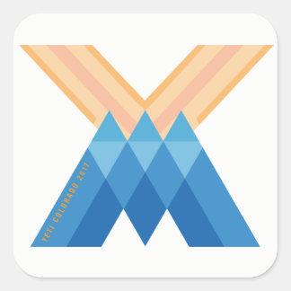 Adesivo Quadrado Versão 2017 de Colorado do logotipo de YetiMen