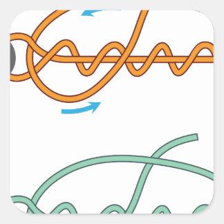 Adesivo Quadrado Versão de duas cores melhorada do diagrama do nó