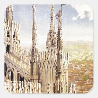 Adesivo Quadrado Viagem de Palermo do vintage
