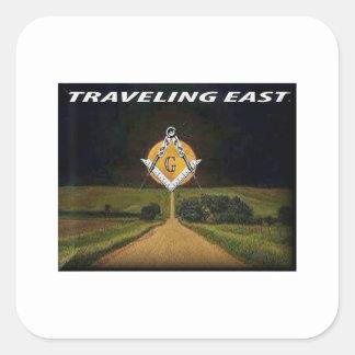 Adesivo Quadrado Viagem para o leste
