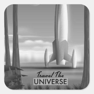 Adesivo Quadrado Viaja o universo mono (o impressão da edição