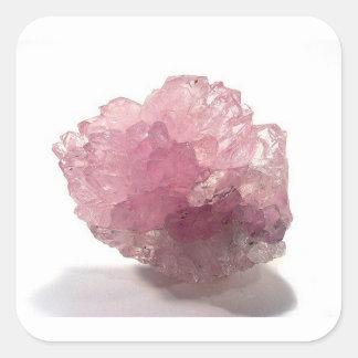 Adesivo Quadrado Viajantes da felicidade de quartzo cor-de-rosa