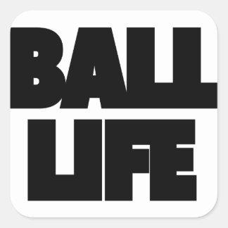 Adesivo Quadrado Vida da bola
