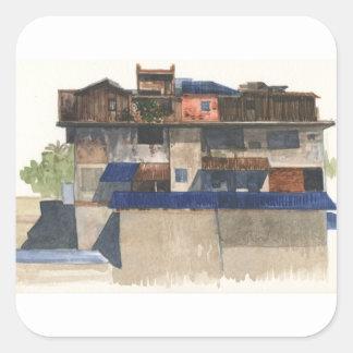 Adesivo Quadrado Vila vertical @ Phnom Penh