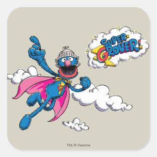 Adesivo Quadrado Vintage Grover super