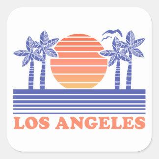 Adesivo Quadrado Vintage Los Angeles Califórnia