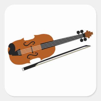 Adesivo Quadrado Violino