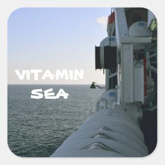 Adesivo Quadrado Vitamin sea