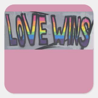 Adesivo Quadrado Vitórias do amor