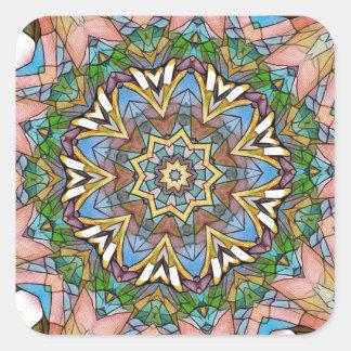 Adesivo Quadrado Vitral artístico Pastel legal bonito