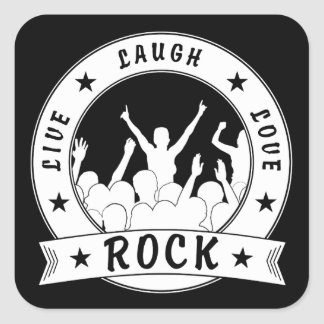 Adesivo Quadrado Vive a ROCHA do amor do riso (branca)