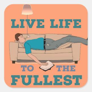 Adesivo Quadrado Vivendo a vida!