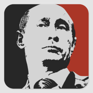 Adesivo Quadrado Vladimir Putin vermelho