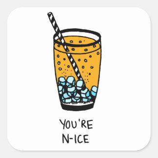 Adesivo Quadrado Você é agradável