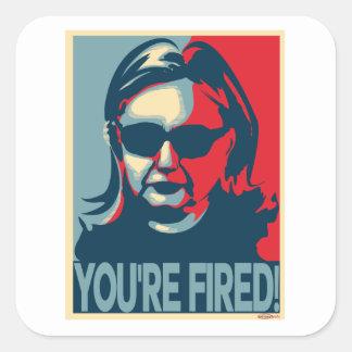 Adesivo Quadrado VOCÊ é Anti-Hillary ATEADA FOGO Clinton