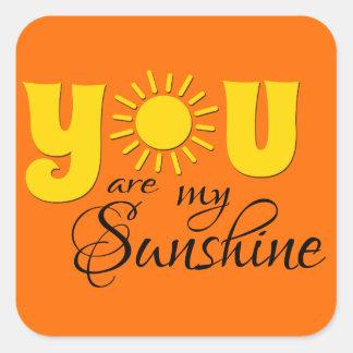 Adesivo Quadrado Você é minha luz do sol