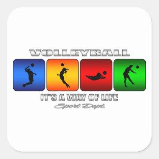 Adesivo Quadrado Voleibol legal é um modo de vida