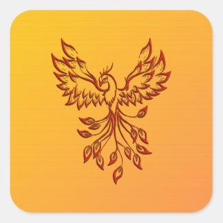 Adesivo Quadrado Vôo de um Phoenix