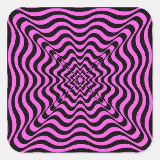 Adesivo Quadrado Vortex cor-de-rosa