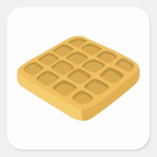 Adesivo Quadrado Waffles da comida do pulso aleatório
